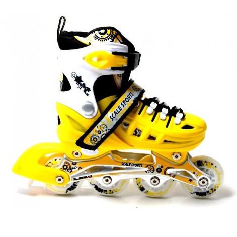 Ролики раздвижные Scale Sports желто-черные размер 29-33