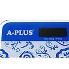 Весы напольные стеклянные A-PLUS до 180 кг ЖК-дисплей, фото 6