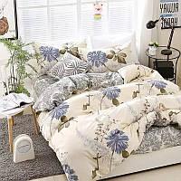 Милое постельное белье евро с цветами