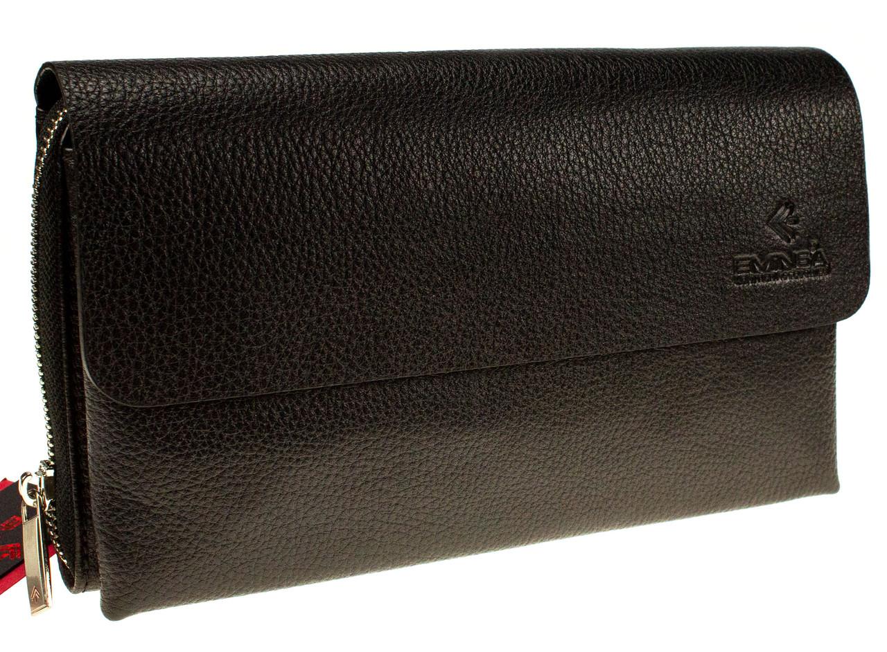 Мужской клатч из мягкой кожи Eminsa 5099-37-1 черный