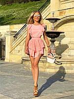 Пудровое красивое летнее женское платье АП/-3130