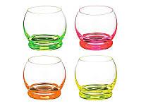 Набор стаканов для сока Crazy Neon 4 по 390 мл Bohemia 25250 D4904 390