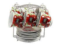 Чайный набор на подставке 13 предметов Маки Interos 3110-12