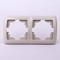 Двойная рамка VI-KO Carmen горизонтальная скрытой установки (кремовая)