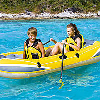 Полутораместная надувная лодка Bestway 61083 Желтая, 228*121 см
