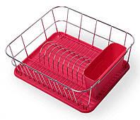 Сушилка для посуды красная Kamille KM-0763B
