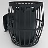 Печь для бани Бочка 30 м³ со стеклом 400*400 и выносом (Canada), фото 2