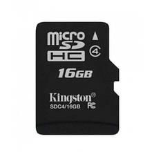 Карта Памяти Micro SD Class 4 16 GB Kingston Черный