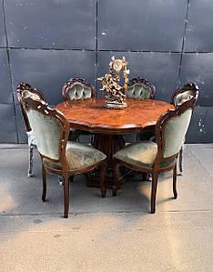 Круглый обеденный стол и 6 стульев «Самуи». Германия