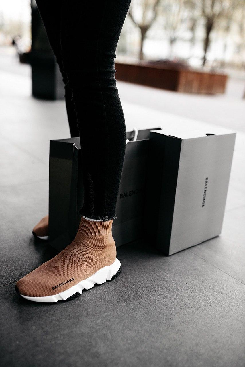 Кроссовки мужские Balenciaga Wmns Speed Trainer Beige