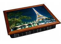 Поднос - столик на подушке Ночной Париж