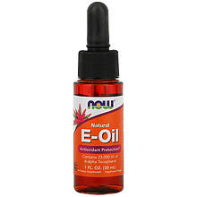 "Натуральное E-масло NOW Foods ""Natural E-Oil"" антиоксидантная защита (30 мл)"