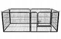 Вольер металлический разборный для собак и щенков Dog Land манеж для собак - 160 x 80 x 60 см