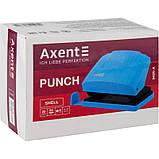 Дырокол Axent Shell 3420-09-A с пластиковым верхом, 20 листов, салатовый, фото 5