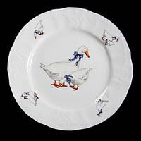 Тарелка десертная 19 см 6 шт Bernadotte Гуси Thun 5936B51-19-6