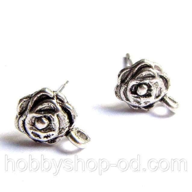 Заготівля гвоздик для сережки Троянда