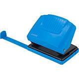 Дырокол Axent Shell 3420-07-A с пластиковым верхом, 20 листов, голубой, фото 2