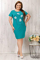 Платье женское летнее трикотажное большого размера, фото 1