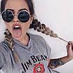 Солнцезащитные очки круглые стеклянные черные унисекс гарри поттера очки лепса джона ленона, фото 2