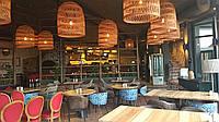 Плетені люстра з лози під замовлення   люстри плетена у ресторан   люстра плетена в кафе