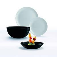 Сервиз столовый 19 предметов Diwali Black and Granit Luminarc P4358
