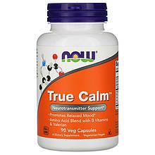"""Комплекс аминокислот NOW Foods """"True Calm"""" для улучшения работы мозга (90 капсул)"""