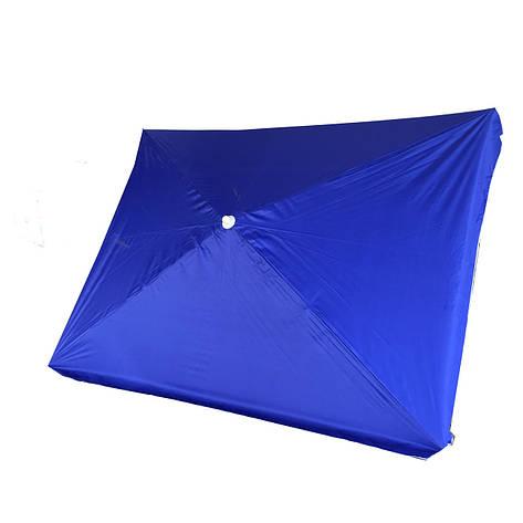 Зонт трорговый, пляжный с клапаном 2 х 3 метра Anty UF металлическая спица, напыление Синий, фото 2