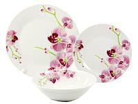 Сервиз столовый 18 предметов Орхидея Interos 3663-18