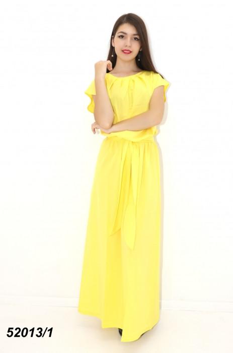 Жіноче жовте літнє плаття в підлогу 42,44,46