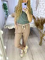 Летние брюки для женщин с высокой талией на поясе