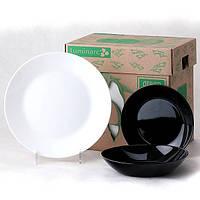 Сервиз столовый 18 предметов Arctic Black White Luminarc G0447