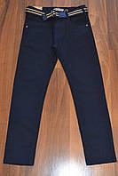 СИНИЕ Котоновые брюки для мальчиков подростков,ШКОЛА.Размеры 134-140 см.Фирма TAURUS.Венгрия, фото 1