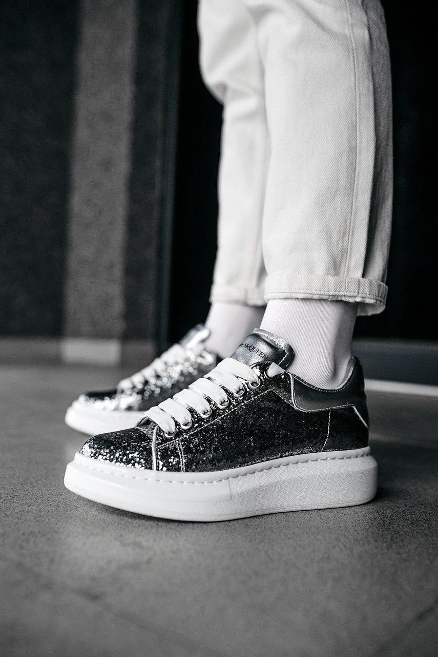 Кроссовки мужские Alexander McQueen Wmns Oversized Sneaker Galaxy Glitter
