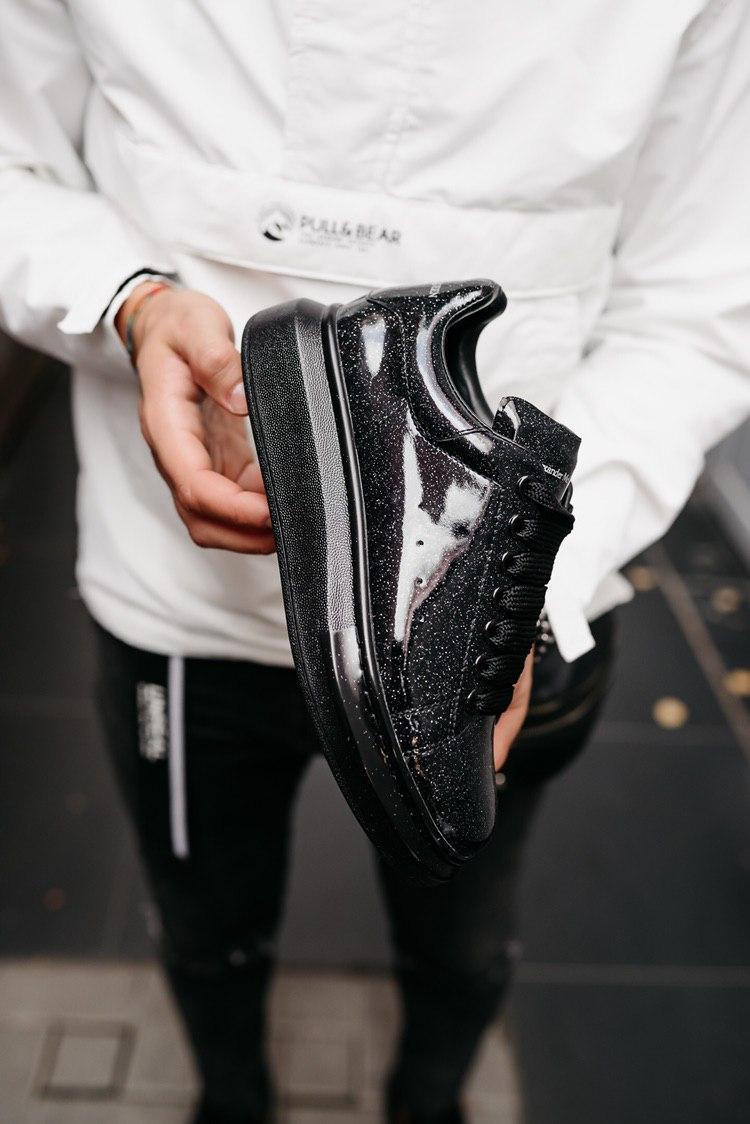 Кроссовки мужские Alexander McQueen Oversized Sneaker Black Glitter