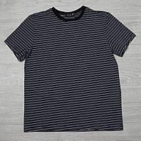 Футболка Мужская в полоску (черно-серая(широкая) Linkoff (XL, XXL, XXXL)
