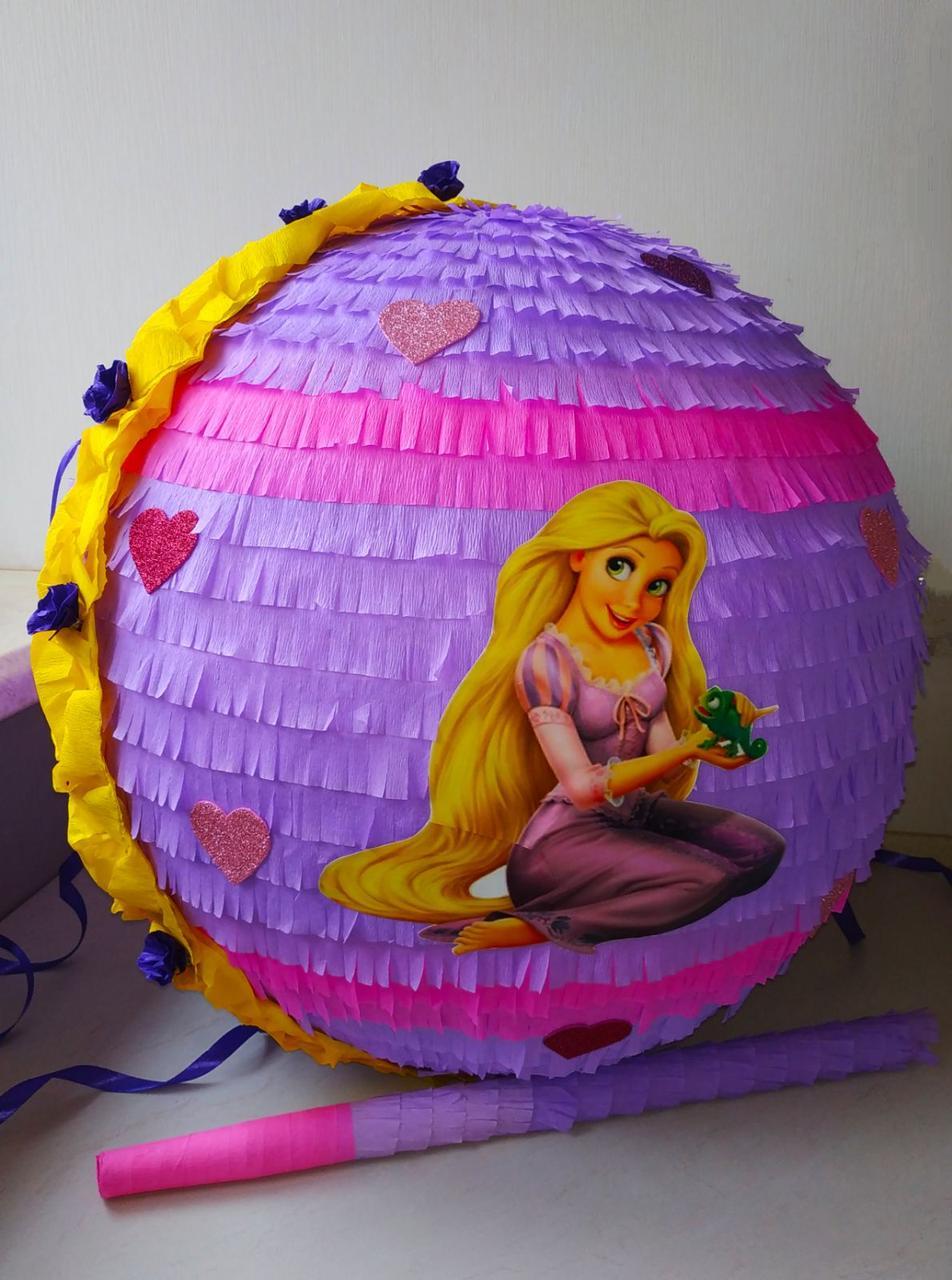 Пиньята - День рождения девочки  Рапунцель, 50 см