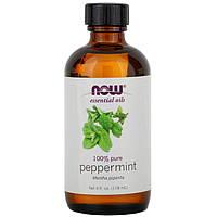 """Эфирное масло перечной мяты NOW Foods, Essential Oils """"Peppermint"""" (118 мл)"""