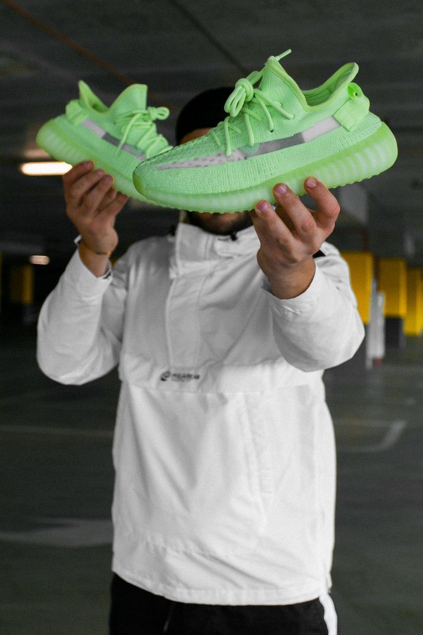 Кроссовки женские Adidas Yeezy Boost 350 V2 GID Glow