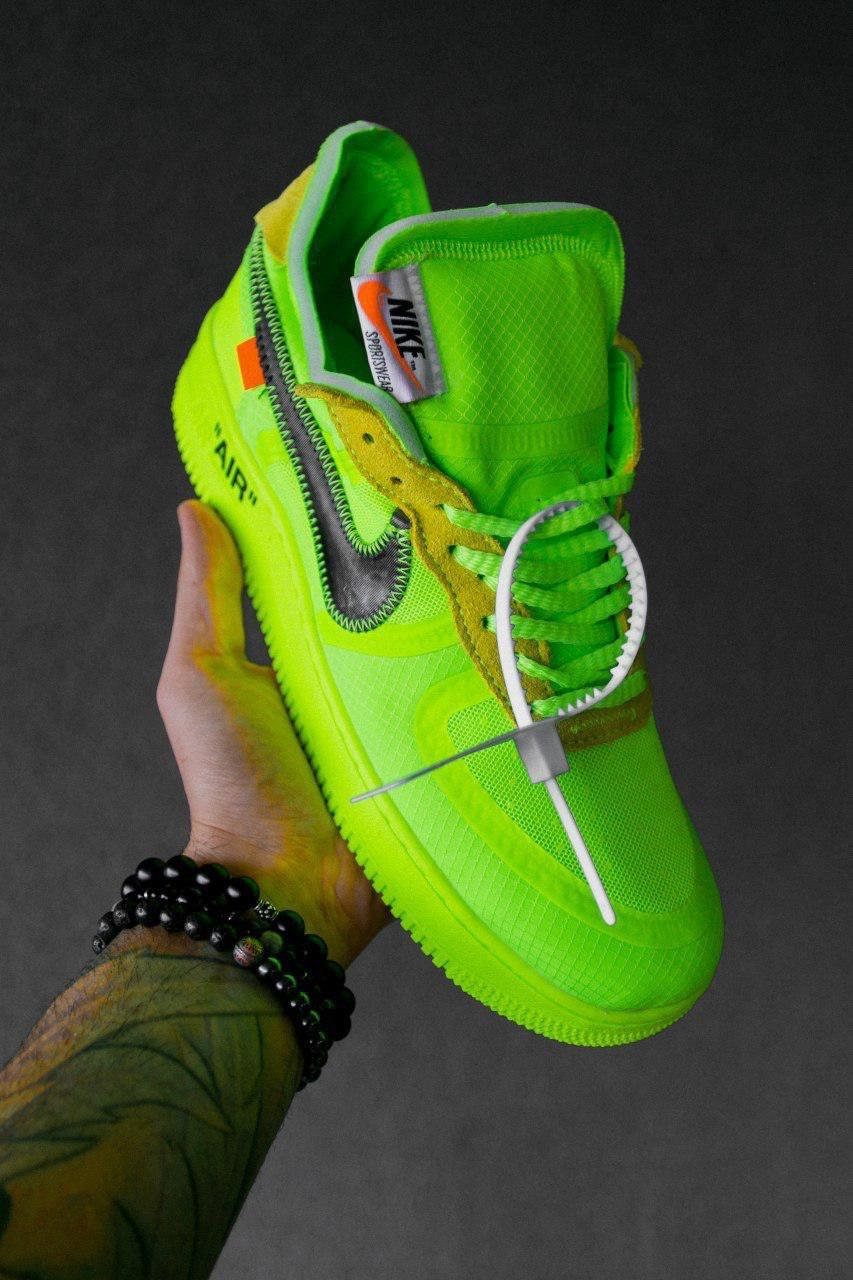 Кроссовки женские Nike Air Force 1 Low Off-White Volt