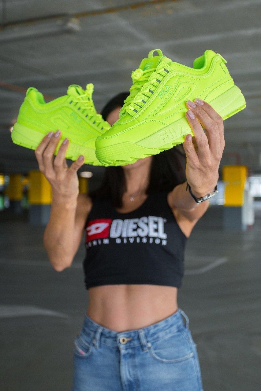 Кроссовки женские Fila Wmns Disruptor 2 Premium Neon Green