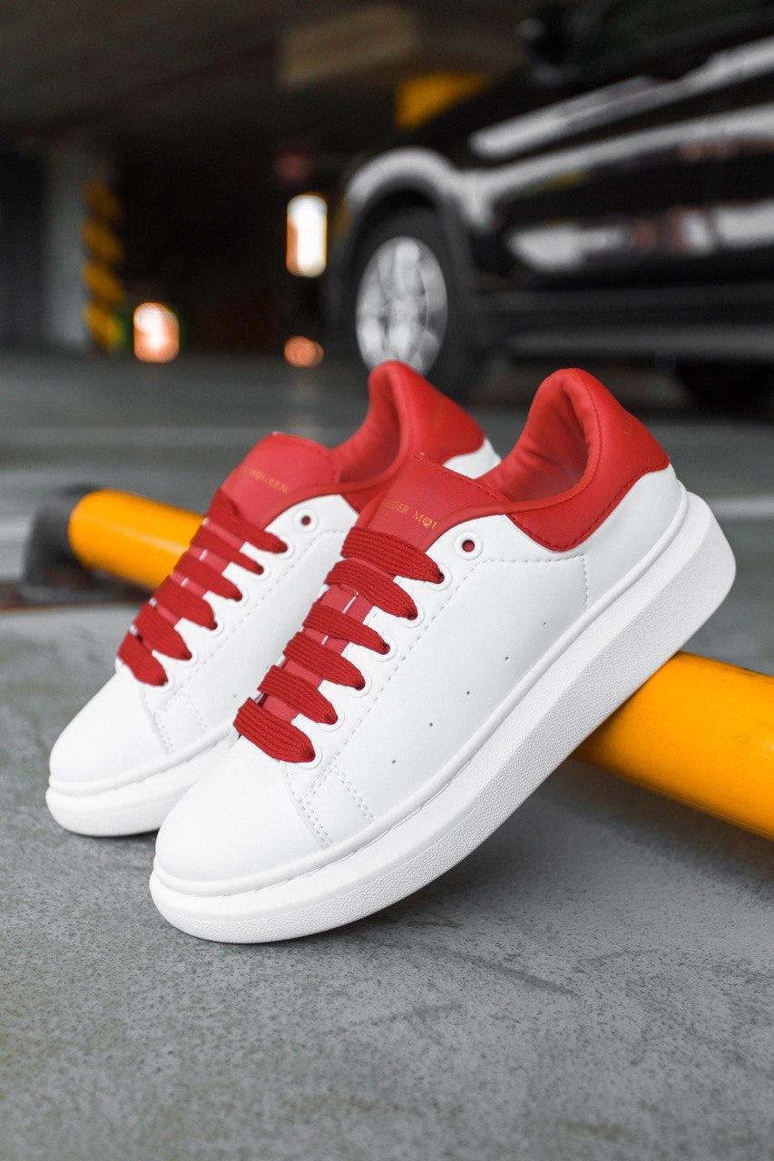 Кросівки жіночі Alexander McQueen Oversized Sneaker Python Red