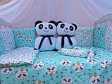 """Комплект """"Панди"""" в дитяче ліжечко, фото 2"""