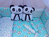 """Комплект """"Панди"""" в дитяче ліжечко, фото 3"""