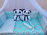 """Комплект """"Панди"""" в дитяче ліжечко, фото 4"""