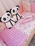 """Комплект """"Панды"""" в детскую кроватку, фото 2"""