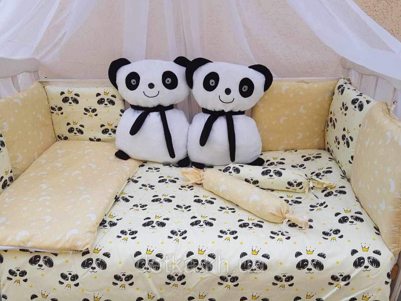 """Комплект """"Панды"""" в детскую кроватку"""