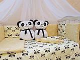 """Комплект """"Панды"""" в детскую кроватку, фото 3"""