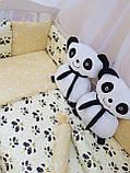 """Комплект """"Панды"""" в детскую кроватку, фото 4"""