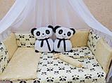 """Комплект """"Панды"""" в детскую кроватку, фото 5"""
