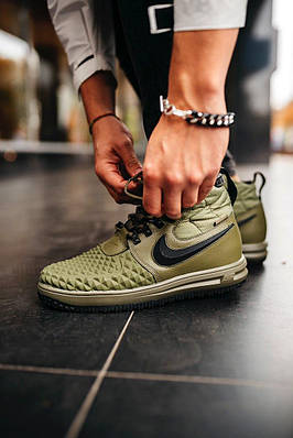 Кроссовки женские Nike Lunar Force 1 Duckboot Medium Olive